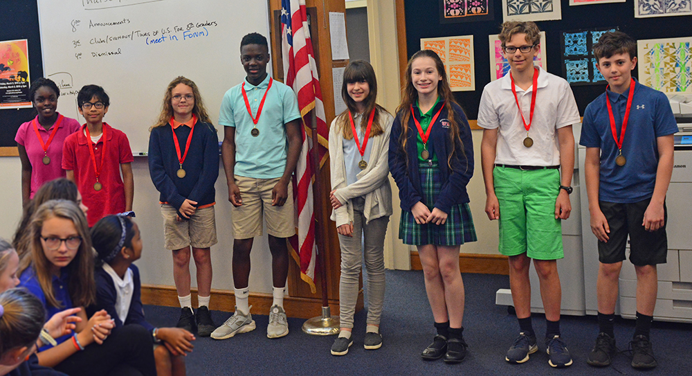 Sixth Grade Science Fair winners